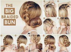 hair in a bun   is a wonderful hair tutorial that is a twist to the traditional bun ...