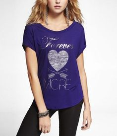 DOLMAN GRAPHIC TEE - FOREVER MORE at Express #ExpressHoliday