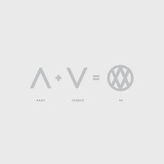 AV logo by Akos Venesz, via Behance