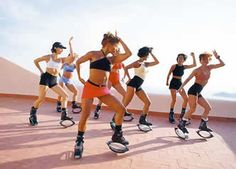 When I want a break from weights and running in my nikes, a bootcamp workout in my Kangoo Jumps is my old standby.