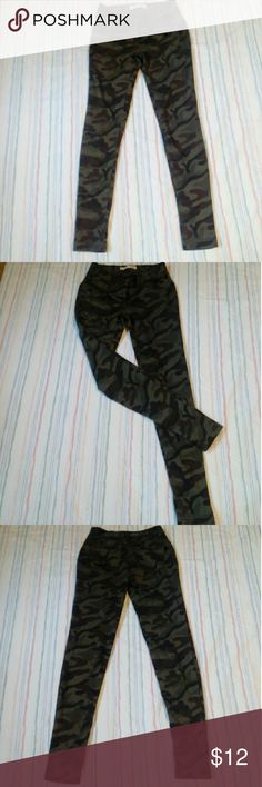 Camo jeggings No Boundaries camo jeggings  Note: The black spot at the top right of the photo is not a stain on the item it is a scratch on my camera lens and can be seen in almost all my listings. No Boundaries Pants