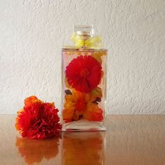 Yellow and Red Bottle Bouquet Home Decor by BottledBouquet on Etsy