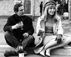 François Truffaut and Julie Christie, on the set of Fahrenheit 451.