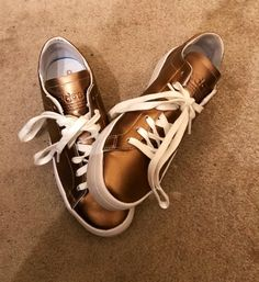 3cb3dfc4f44 Golden Adidas sneakers. Click for more or download the Vinted app.  Sustainable fashion second