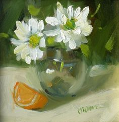 Daisies by Judy Crowe - Daisies Painting - Daisies Fine Art Prints and Posters for Sale