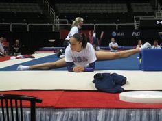 Jordyn warming up for 2012 Olympic Team Trial Finals. Photo: Gymnastike