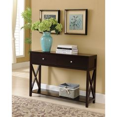K and B Console Table, Dark Cherry | Overstock.com Shopping - The Best Deals on Coffee, Sofa & End Tables