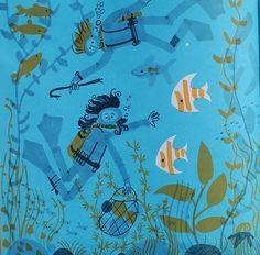 Ed Emberley illustration under the sea