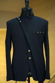 Buy Navy Blue Woven Italian Jodhpuri Suit Online - Jodhpuri suits for men - Nigerian Men Fashion, Indian Men Fashion, Mens Fashion Wear, Suit Fashion, Fashion Hats, India Fashion Men, Mens Fashion Blazer, Fashion Trends, African Wear Styles For Men