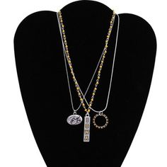 Iowa Hawkeyes Ladies Trio Necklace Set