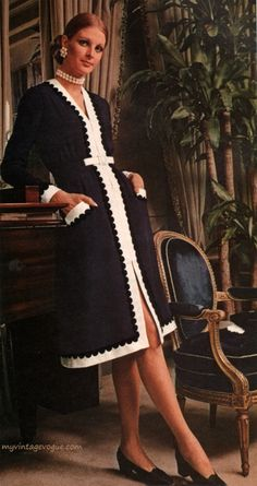 Oscar De La Renta- Vogue Pattern Book, April/May 1971.
