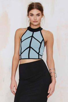 Line Away Crop Top