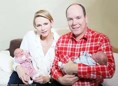 Gabriella was born first at 5:04 p.m., and Jacques at 5:06 p.m., but it is Jacques who will be the future Prince of Monaco, because of the Mediterranean principality's male inheritance laws. Shown: Prince Albert and Princess Charlene with their twins.