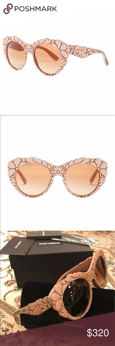 Dolce & Gabbana DNA Acetate Frame Sunglasses Beautiful brand new Sunglasses.  authentic. From Nordstrom. Very popular and perfect for summer. Dolce & Gabbana Accessories Glasses