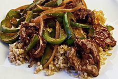 Pepper Steak - Bistec con Pimientos