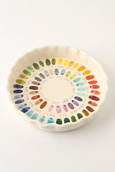 Bake By Number Pie Plate... hello! I can soo see myself teaching my future children the color wheel with this...