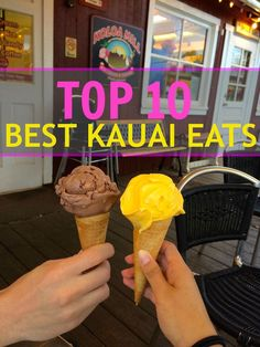 All the best restaurants and local places to eat while visiting Kauai. From breakfast to dinner, this list covers it all!