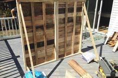 I had a tear in my eye when that pallet wall was able to stand up on its own! And ever since the day it was constructed, ...