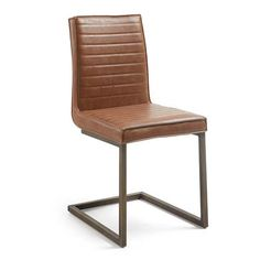 Chaise tusk, marron oxyde marron oxyde Kave Home Club Chairs, Dining Chairs, Interiors Online, White Sofas, 3 Seater Sofa, Metal Chairs, Bar, Upholstered Chairs, Amazing Bathrooms