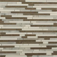 Torpedo Alaskan Blend Marble Mosaic Tiles contemporary-mosaic-tile