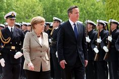 Angela Merkel hinted in key talks today that she may be willing to back treaty change as David Cameron tried to woo Europe's most important leader. The German chancellor gave one of her most positive signs yet that she may bend to British demands to renegotiate the UK's position in the EU after bilateral talks in Berlin.
