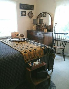 Love this primitive bedroom