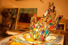 Vitraliu tiffany Fair Grounds, Tiffany, Painting, Plastic, Painting Art, Paintings, Painted Canvas, Drawings