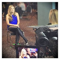 @jadehollandmusic  looking fabulous wearing the 'Maxine Top in Cobalt' & 'Badlands Super Skinny Stretch Pants' while being interviewed! Shop these beauties at shop.stfrock.com.au #stfrock #jadehollandmusic #stylish #beautiful
