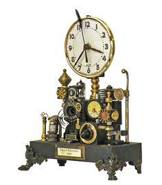 Steampunk Shelf Clock - Klockwerks by Roger Wood