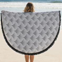 Amaroo 'Roundie' Round Towel | From Salt Living  #thebeachpeople #beachtowel