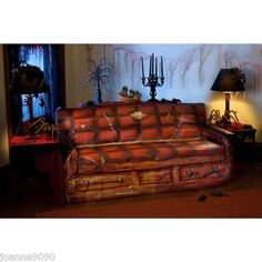 SPOOKY SCENES HALLOWEEN CREEPY SOFA COFFIN COUCH COVER PARTY DECORATION DISPLAY | eBay