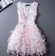 Sweet princess lace sleeveless dress FG42219JH