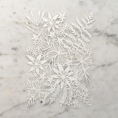 """Chamomile Bouquet"" Original Cut Paper Artwork"