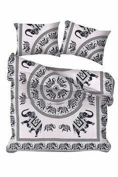 Elephant Mandala Comforter Bedding Quilts Indian Reversible Duvet Cover Coverlet #Handmade #Traditional Mandala Comforter, Mandala Duvet Cover, Soft Surroundings, Elephant, Luxury Bedding, Comforters, Duvet Covers, Quilts, Blanket