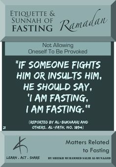 Matters Related to #Fasting #Ramadan 2016