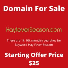 HayFeverSeason.com domain name for sale! Visit it now to purchase it!  #hayfever #season #allergy #allergicrhinitis #domainforsale #domainname #domains #domainsale #domainnameforsale #website Elmer The Elephants, Web Domain, Easy To Cook Meals, Easy Cooking, Kids Tops, Shopping Near Me, Rooms For Rent, Job Opening, Names