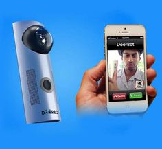 The Doorbot Door Bell Lets Users Answer the Door from Their Phone #doorbells trendhunter.com