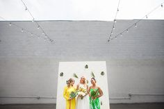 Go Bananas! A modern, tropical, inspired wedding photoshoot in Los Angeles, CA.