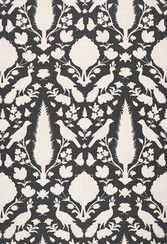 Chenonceau in Charcoal, Fabric SKU - 173563. http://www.fschumacher.com/search/ProductDetail.aspx?sku=173563 #Schumacher