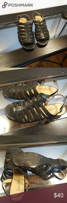 Shoes Neiman Marcus black strap sandal worn a few times Shoes Sandals