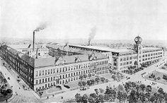 Pietarsaari tobacco factory in the good old days. Ostrobothnia province of Western Finland. - Pohjanmaa.