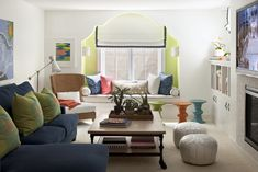 Moroccan Lounge - eclectic - family room - minneapolis - by Lucy Interior Design  LOVE the colors!!! Neutral while still being fun.