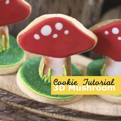 3D mushroom cookies - how to make them extra sturdy - http://youtu.be/53P601y5YcA