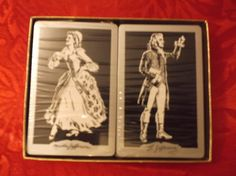 Vintage Redi-Slip Remembrance Playing Cards  Boxed (2 Stamped Decks) Jeffersons