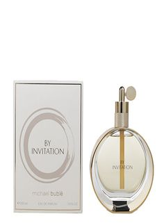 Michael Buble By invitation 3.4 EDP Women  A prestige fine fragrance inspired by Michael bublé, by invitation represents the sentiments of Michael's music; love, romance and passion. His idea of the perfect fine fragrance for women, the way he would like a woman to smell.