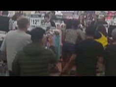 Bloody brawl between Walmart customers caught on camera