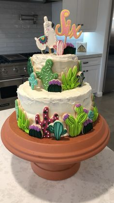 66 Super Ideas For Baby Shower Cake Topper Girl Recipe Cupcakes, Cake Cookies, Cupcake Cakes, Llama Birthday, Birthday Cake, Fiesta Cake, Cactus Cake, Gateaux Cake, Savoury Cake