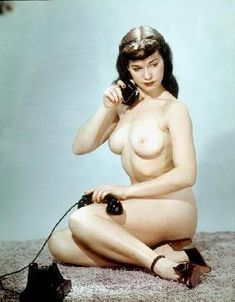 - American pin-up Betty Page
