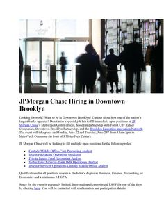 JP Morgan Chase positions in Downtown Brooklyn