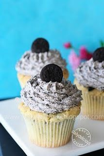 oreo cupcakes from scratch.... Apparently I am craving chocolate tonight....